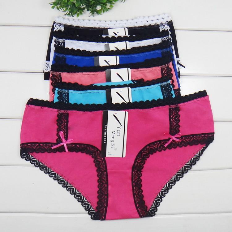 d7eab7383 Vestindo algodão lingerie de renda preta sexy mulheres maduras cueca  calcinha