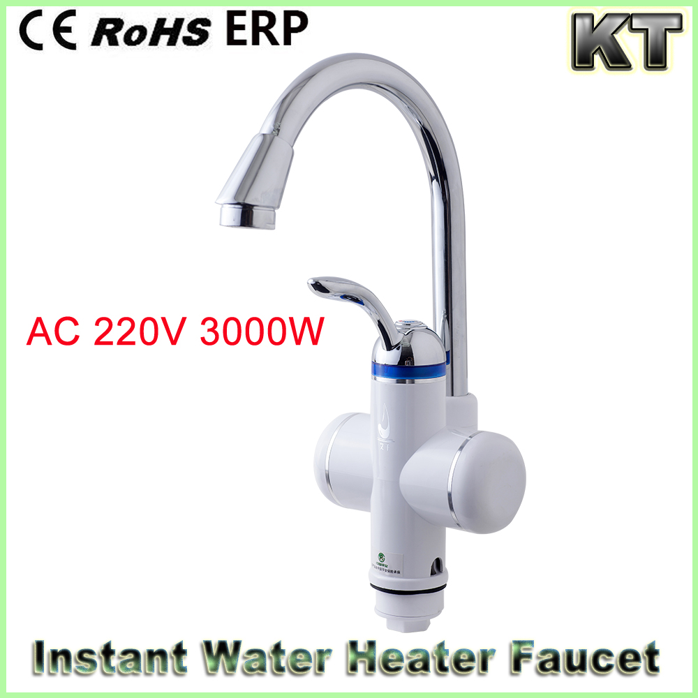 220 Volt 3000 Watt Electric Tankless Water Heater Faucet Electric Instant Hot Water Tap
