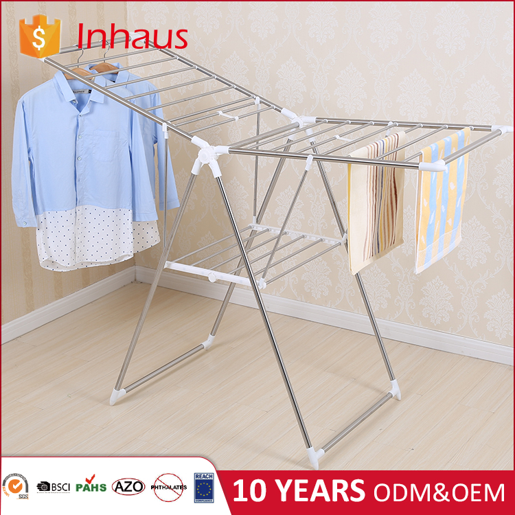 new craft removable stand hanging vertical folding cloth drying rack