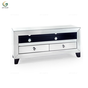 indoor home interior mirrored glass corner tv table stand