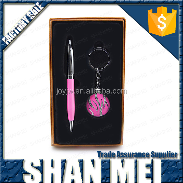business ideas cheap pen keychain gift sets for giveaways for women