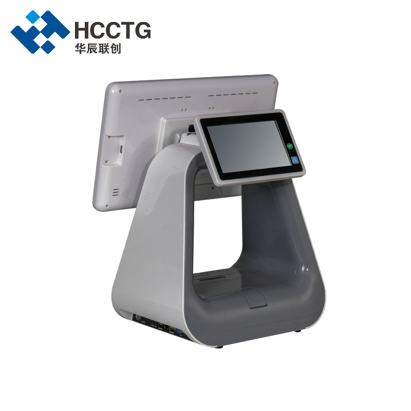 Android Windows Retail All In One Dual Screen POS Machine with Printer HKS10-D