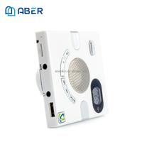 Portable Wall Mount Speaker with FM TF Card Mini Design Smart Home Speaker