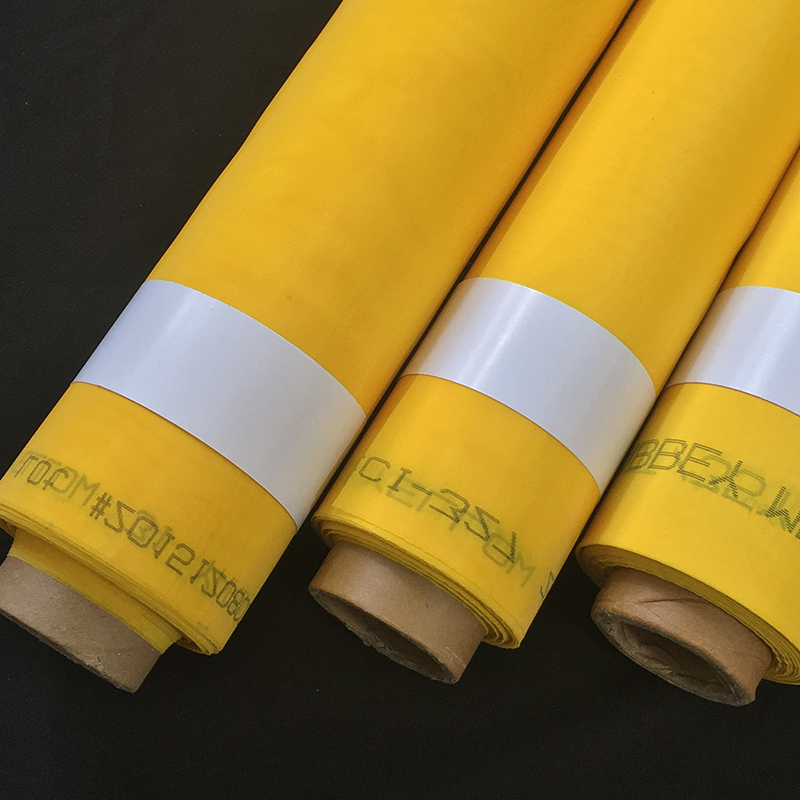 New design superior quality white/yellow polyester printing mesh for children dresses