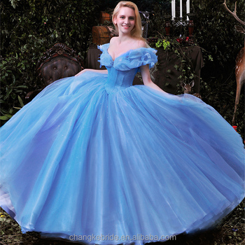 92606d3b134 2018 New Arrival Princess Prom Gowns Blue Queen Princess Cinderella Girls  Christmas Western Party Dress