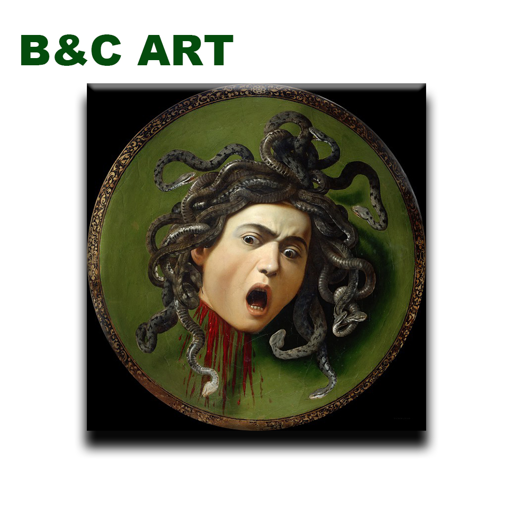 Reproduction classical male Medusa Michelangelo Merisi da Caravaggio paintings with frame