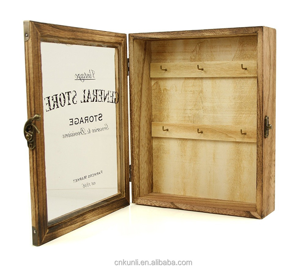 Vintage Style Wooden Key Box Cabinet Wall Hanging Or Free Standing   Buy Wooden  Key Box,Key Box,Vintage Box Product On Alibaba.com