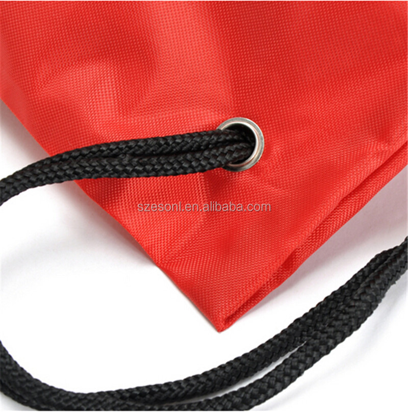 China Supplier Nylon Material Printing Sports Backpack Travel Waterproof Drawstring Bag