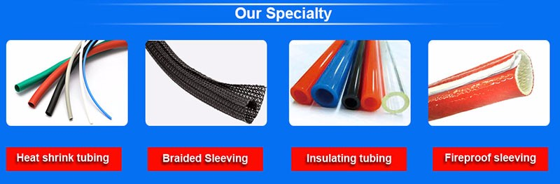 GWIT Silicone rubber coated fiberglass sleeving Anti-aging insulation fire sleeving