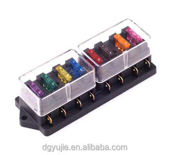 automotive blade fuse holder box 8-circuit fuse block cover