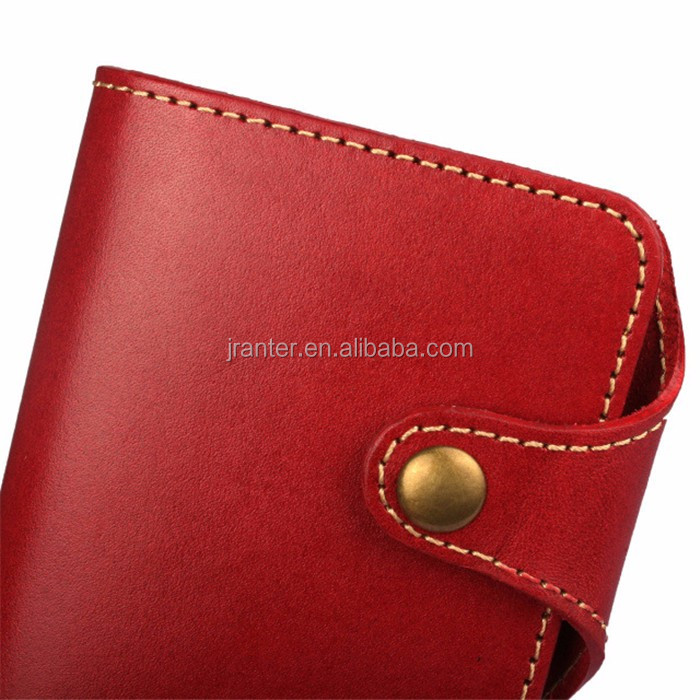 OEM Classic Genuine Leather Mobile Phone Case Card Holder Wallet for Iphone 5 Flip Case