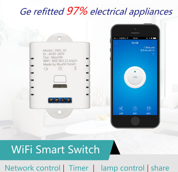 Smart Home WiFi Wireless Remote Control Wall Switch With Phones