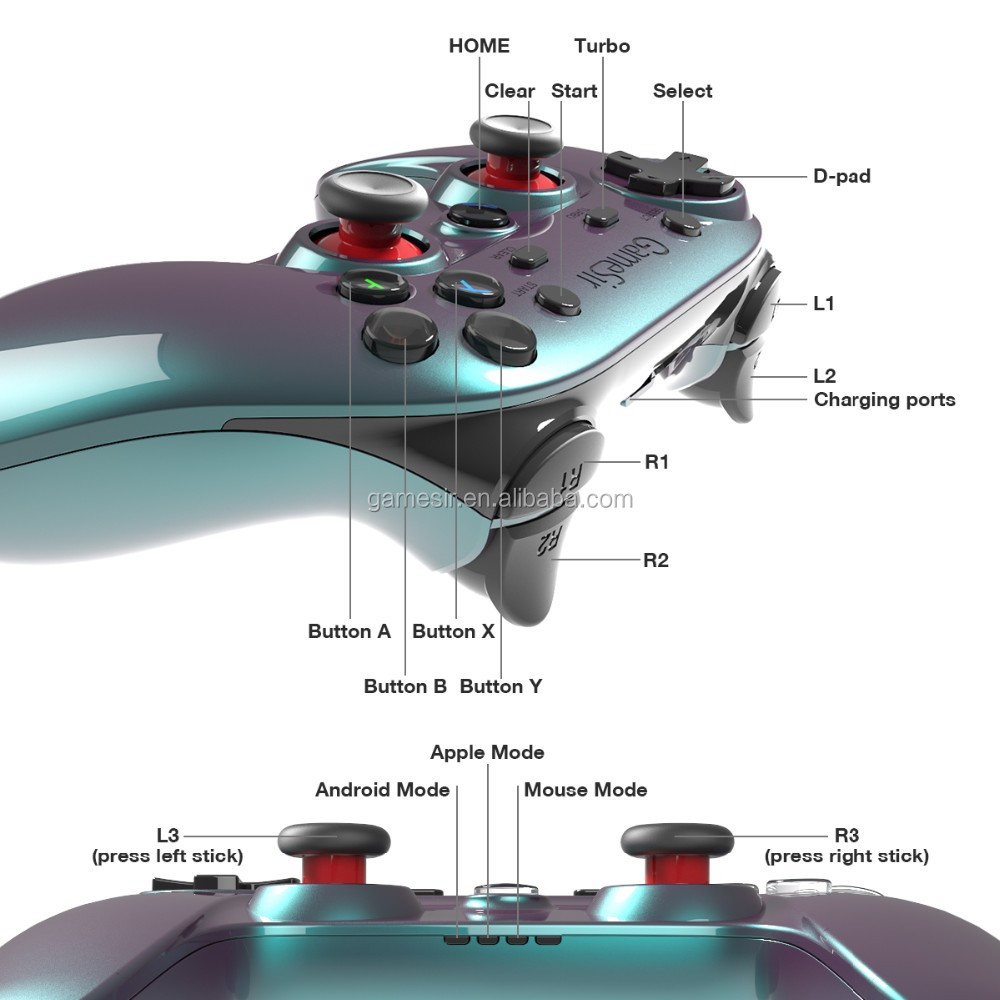 Gamesir G3v 3 in 1 high quality wireless PS3 controller bluetooth