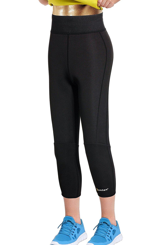 df22ad3c1 Junlan Women Neoprene Workout Pants Body Shaper Sweat Sauna Suit for Weight  Loss Exercise Leggings Hot