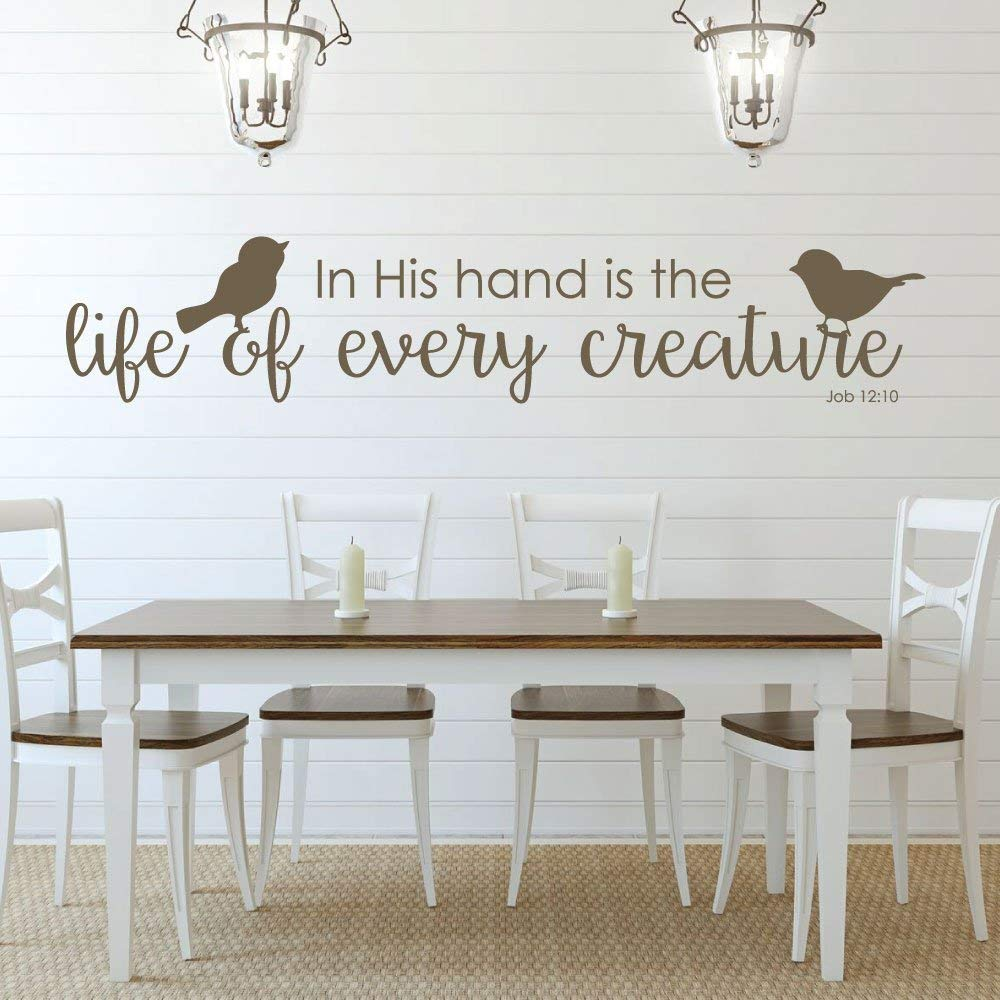 Bible verse wall art job 1210 wall decal in his hand is