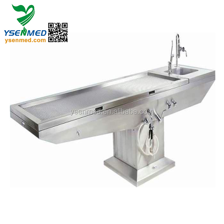 YSJP-02 Mortuary Table / Stainless Steel Autopsy Table / Corpse Dissection Table
