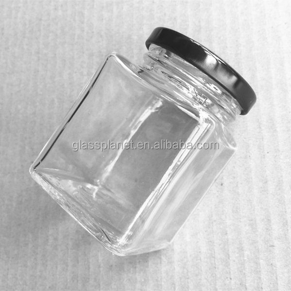 100ml Square Glass Jar for Honey, Jam and Wedding Favors