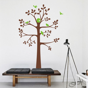 Syene tree wall decals for nursery 3d custom art vinyl tree wall stickers decals wall designs for living room birds home decor