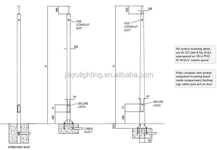 Galvanized Road Street Cctv Camera Traffic Light Steel Pole For Sale - Buy  Steel Pole,Traffic Light Steel Pole,Cctv Camera Steel Pole Product on