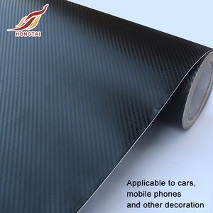 Factory direct sale PVC carbon fiber car wrap vinyl with air bubble