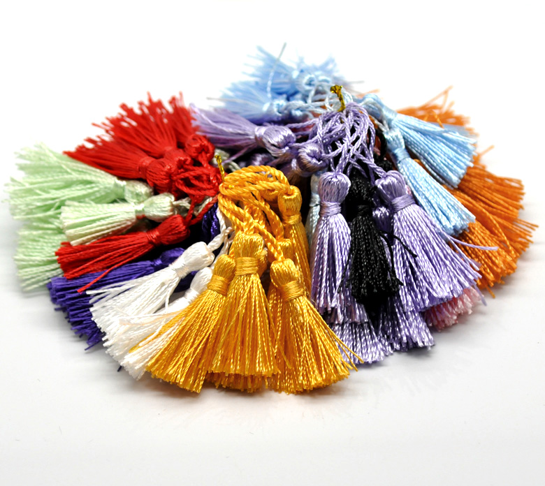 "100PCs Mixed Silky Tassels Crafts Decorative Tassels For Curtains Dress Necklace Earrings Jewelry DIY 4.5-5cm(1-3/4""-2"")"