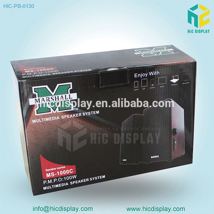 cardboard display Package box printing for retail promotion