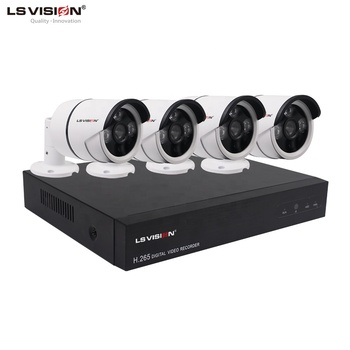 LS VISION 4ch NVR Kit 2.0MP POE HD Security IP Camera System CCTV Monitor Surveillance Network System