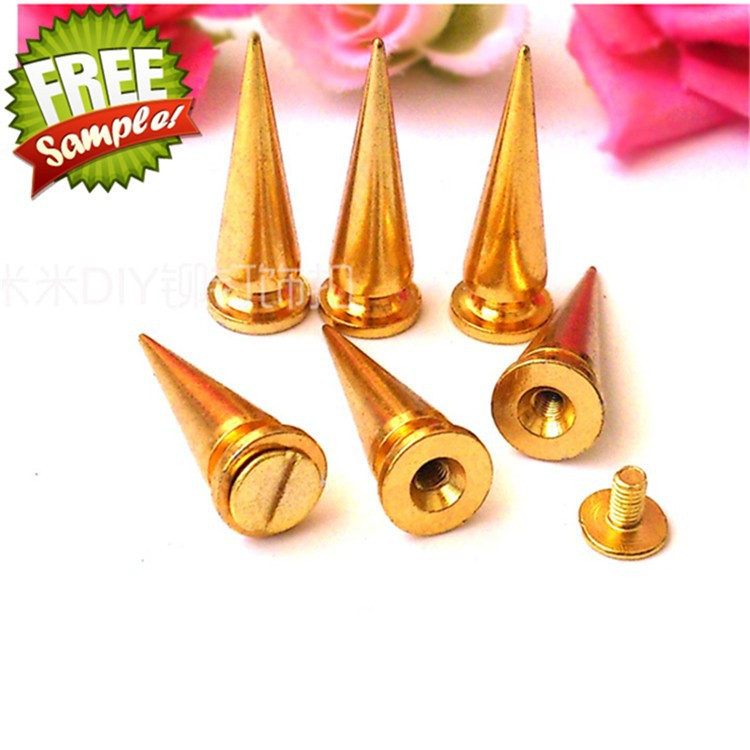 DIY gold cone spikes