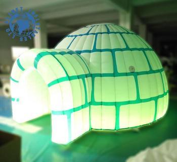 Outdoor Kids Inflatable igloo playhouse Led inflatable igloo tent for rental & Outdoor Kids Inflatable Igloo Playhouse Led Inflatable Igloo Tent ...