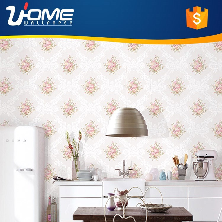 Uhome 3D Glitter Wallpaper Romantic Wedding Decorator for <strong>Wall</strong> Waterproof