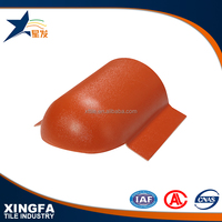Synthetic resin roof tile accessories of head sealing tile