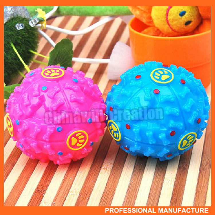 Popular rubber pet food ball leakage with strange voice, wholesale pet products
