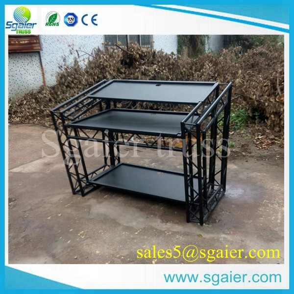 Aluminum Portable Dj Booth Truss Table For Club