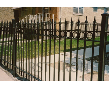 Easy Install Simple Wrought Iron Security Fence For Home Garden - Buy Used  Wrought Iron Fencing For Sale,Cheap Wrought Iron Fence,Modern Wrought Iron