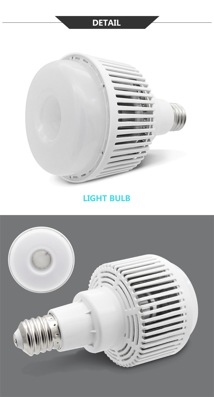 LED High bay bulb E40 with diffuser 50W 80W 100W lighting