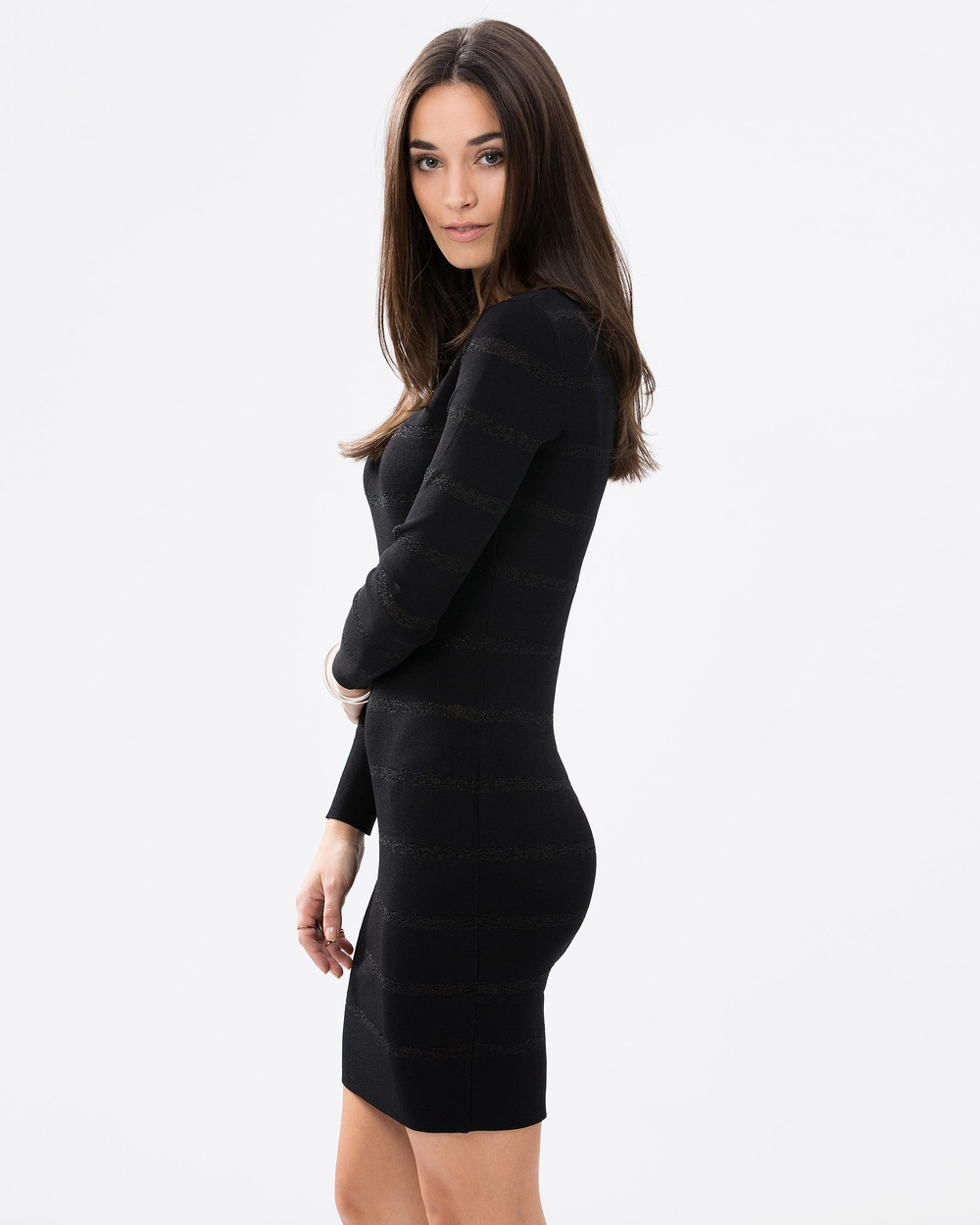 8ecebdef7f3e Long Sleeve Black Tight Sexy bodycon Knitted Dress for women / Women's Sexy  Bodycon Knitted Dress