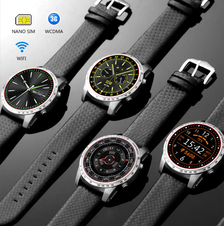 Kingwear KW99 Smart Watch Android 5.1 OS MTK6580 BT4.0 3G WIFI GPS ROM 8GB RAM 512 MB Heart Rate Monitoring Smartwatch