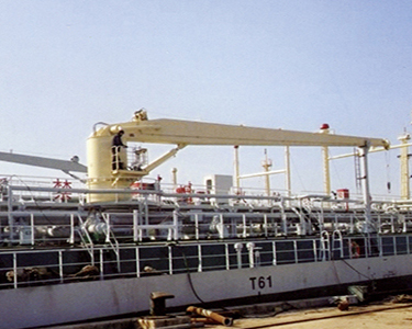 5 ton ship boat deck cranes with hydraulic system