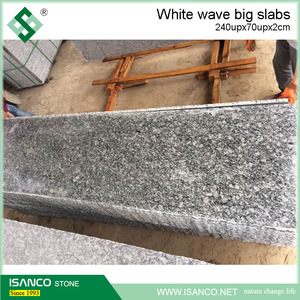 cheap granite slab Grey / White Wave polished tile cheap sea wave white