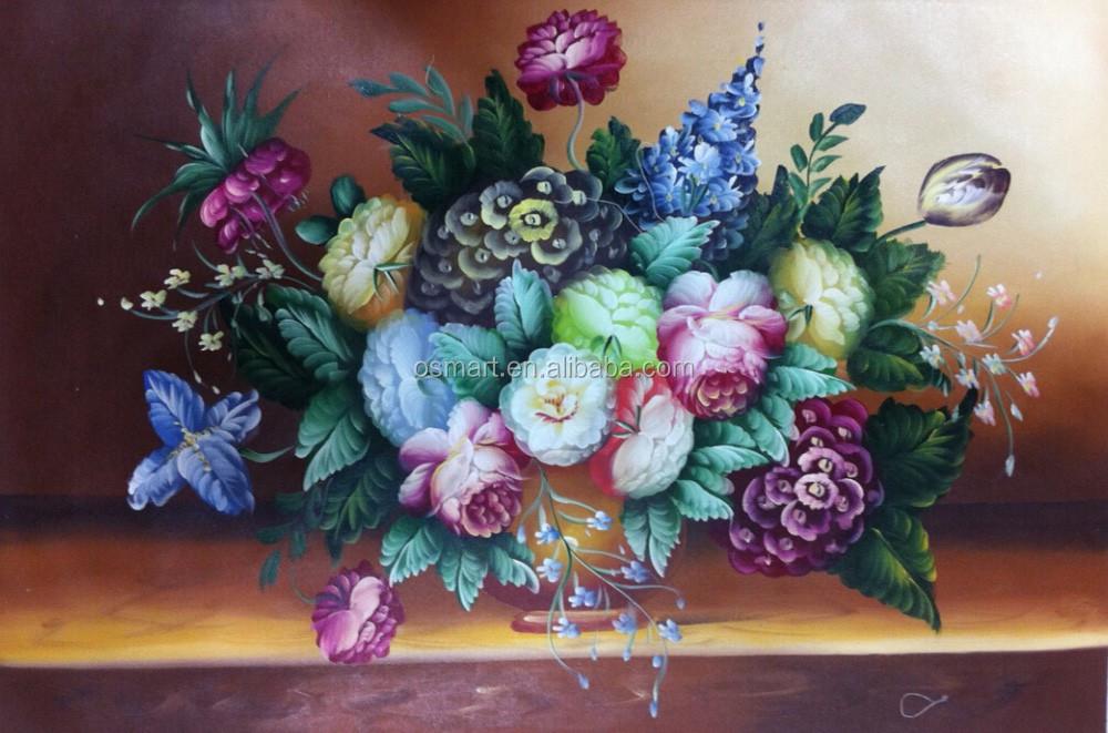 Alta calidad asegurada pintado cuadros de flores lienzos - Pinturas para el hogar ...