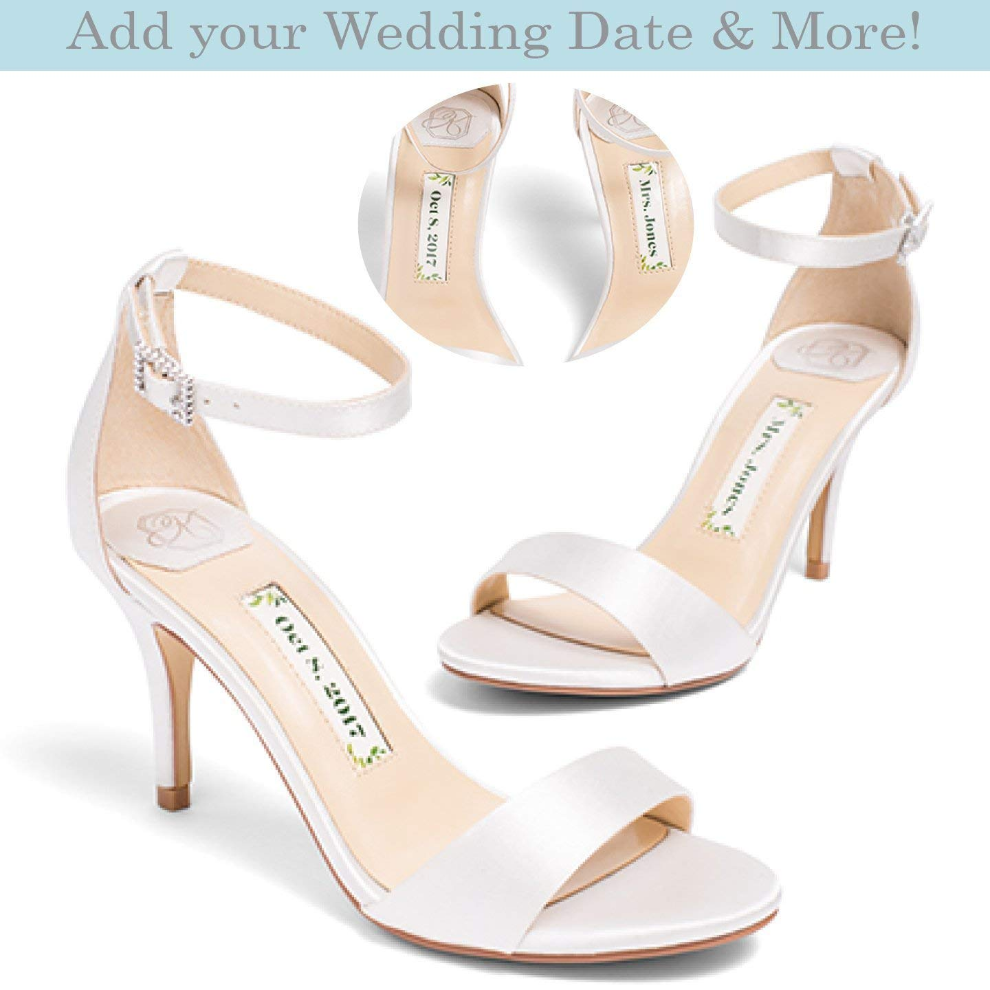"Bridal Women's High Heel Ivory Satin Wedding Shoe – Kate Whitcomb Shoes style ""Vera"""