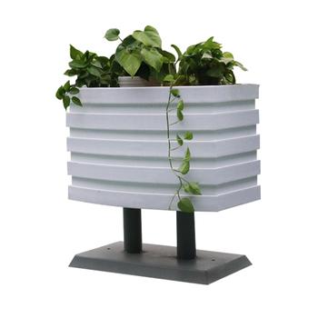 White Rectangular Outdoor Patio Garden Planter Flower Box With Stand