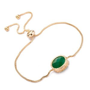 Fashion Bracelet Women 2016 gold plated Hand Chain Gemstone pendant Bracelet for women Jewelry Manufacturer//