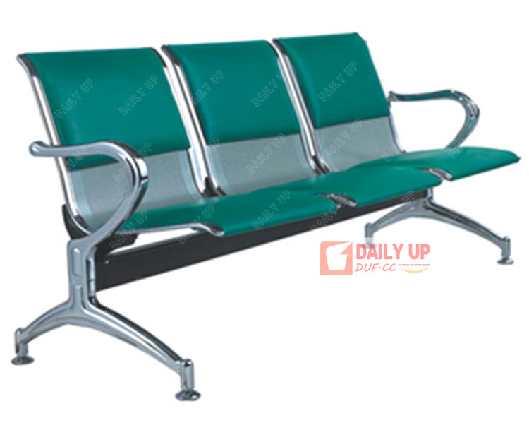Pu Padded Salon Waiting Chair Office Conference Chair Fixed Barber