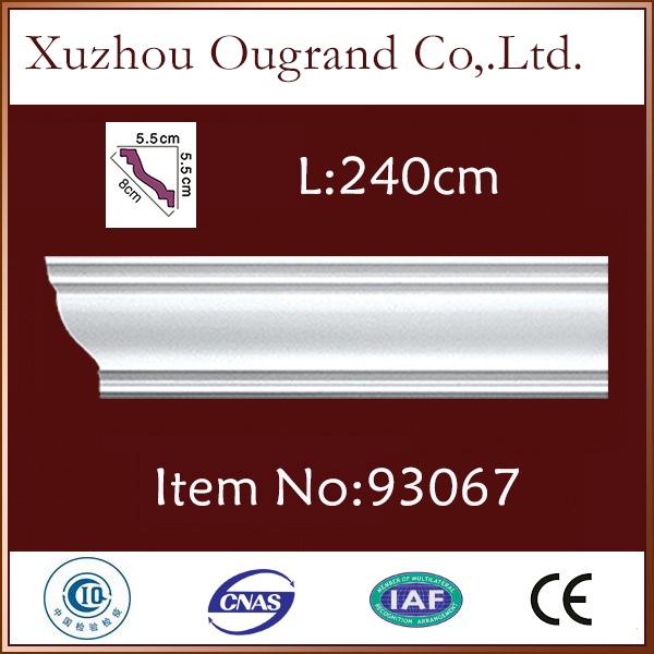 fireproof pu gypsum kitchen cabinet crown moulding