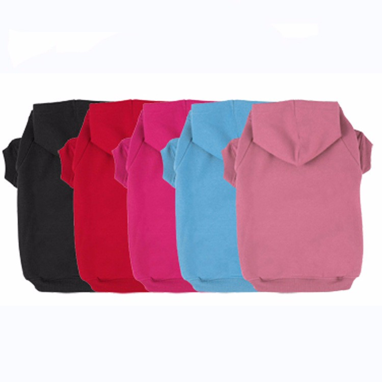 Multi Color Cheap Price Fashionable 100% Cotton Dog Hoodie Plain
