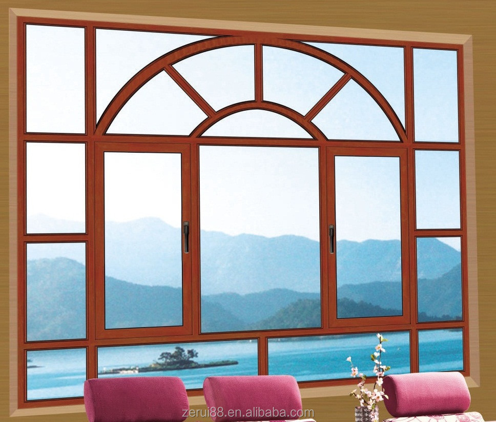 french swing window in artic design in China nanhai hot sell in Oman
