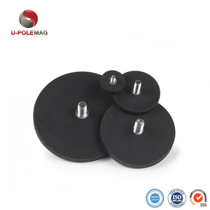 Rubber Coated Magnet Pot Magnetic Holding With Screw Thread