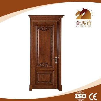 Alibaba hot sale solid wooden door hand carved wooden door for Flat solid wood door