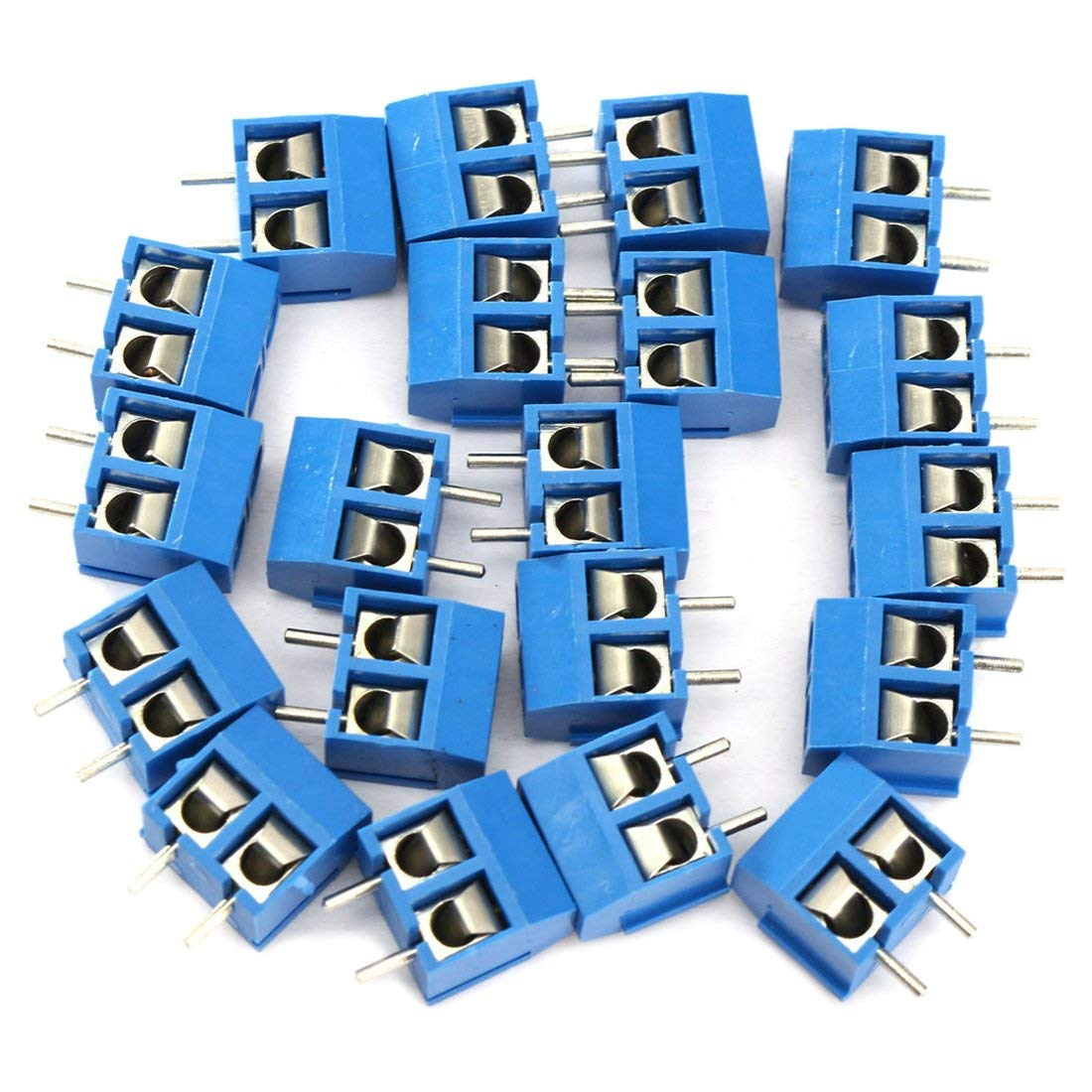 SODIAL(R) 2-Pin Screw Terminal Block Connector 5.08mm Pitch Panel PCB Mount, 200Pcs
